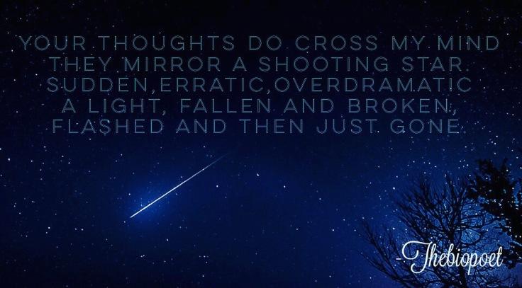 Nightsky, shooting star, poetry, nostalgia, love, beautiful
